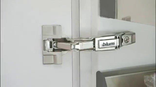 Бесшумные петли дверей Clip Top Blum