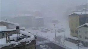 Kumru'ya Kar İşte Böyle Yağdı.