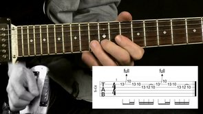 Gary Moore Repeating Lick over D Minor