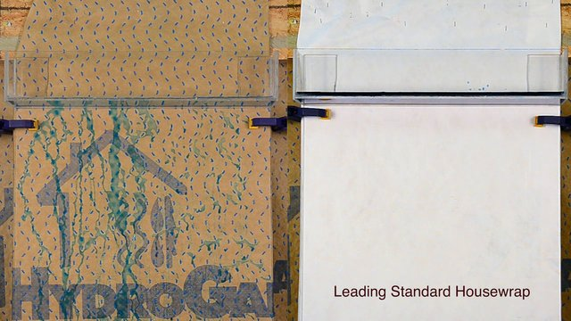 HydroGap® vs Standard Housewrap Comparison