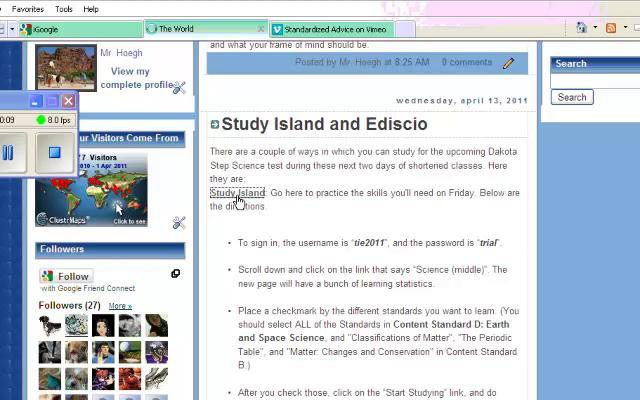 Using Study Island (HS)