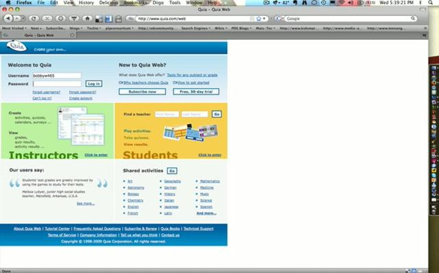 Overview of using Quia