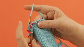 Left-Handed: Slip 1, Knit 1, Pass Slipped Stitch Over