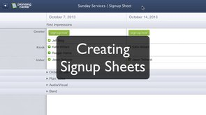 Creating Signup Sheets