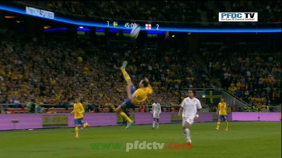HD | Ibrahimovic's overhead Goal vs. England – 11/14/12