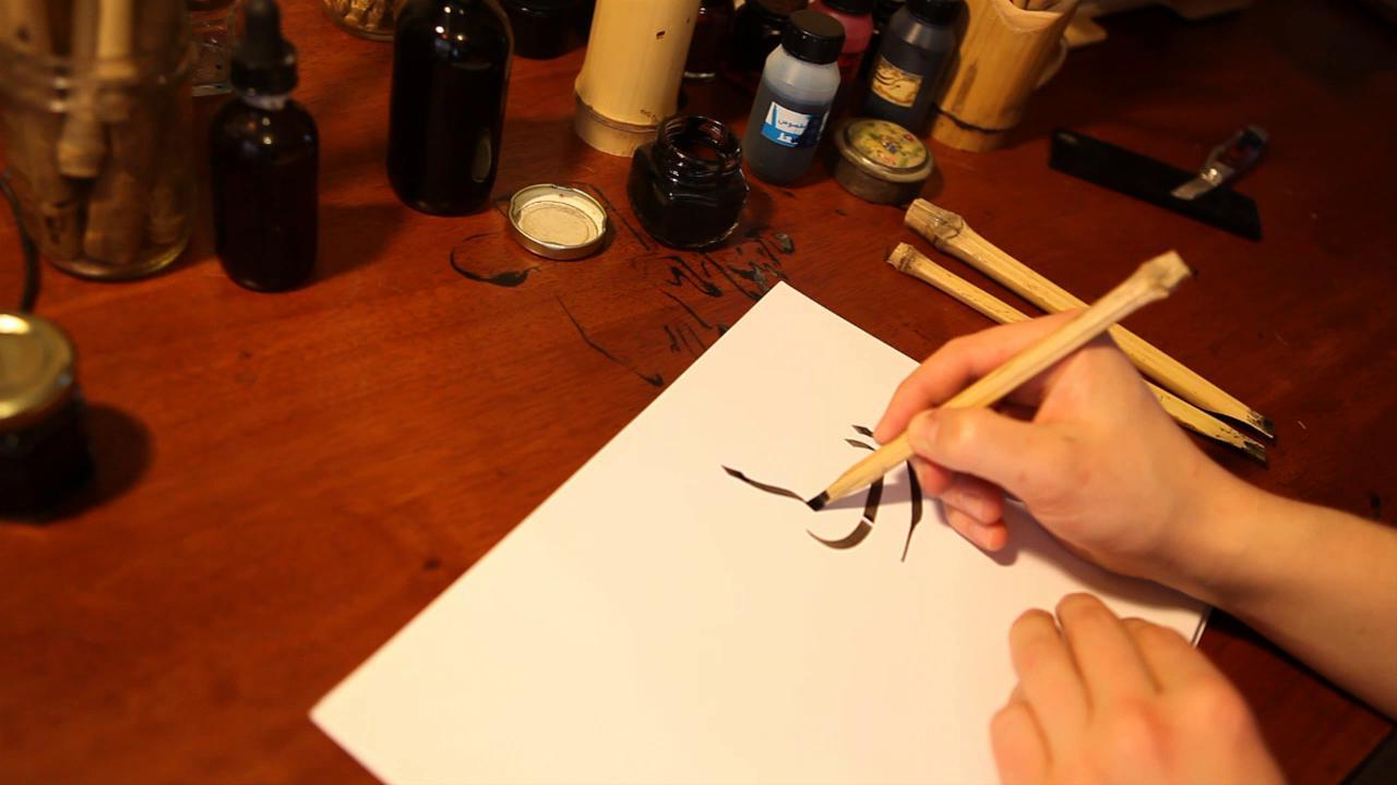 Calligraphy tarini gupta arabiccalligraphycom Arabic calligraphy tools