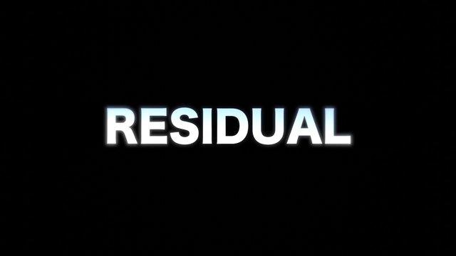 Residual Short Film Final Cut...