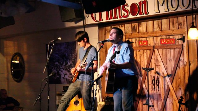 "Wyatt Espalin sings ""The Pardon & The Key"" at the Crimson Moon Cafe in Danlonega, Ga (2013)"