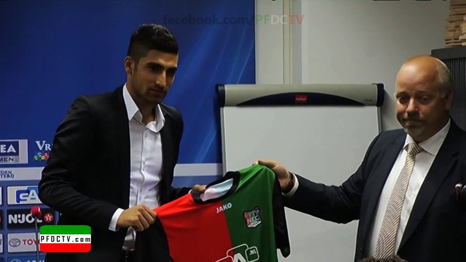 Jahanbakhsh presented in NEC press conference