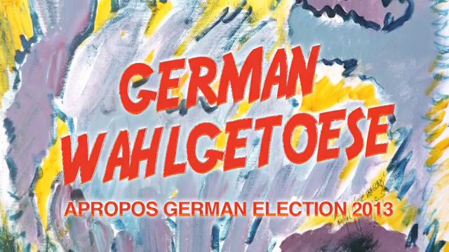 German Wahlgetoese - Michel Montecrossa's 4 New-Topical-Songs about finding a new chancellor