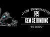 Flow Gem-SE Snowboard Bindings 2014