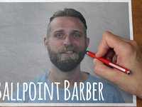Ballpoint Barber // Stop-motion Reverse Haircut and Beard-cut // Trim 2 [sent 3 times]