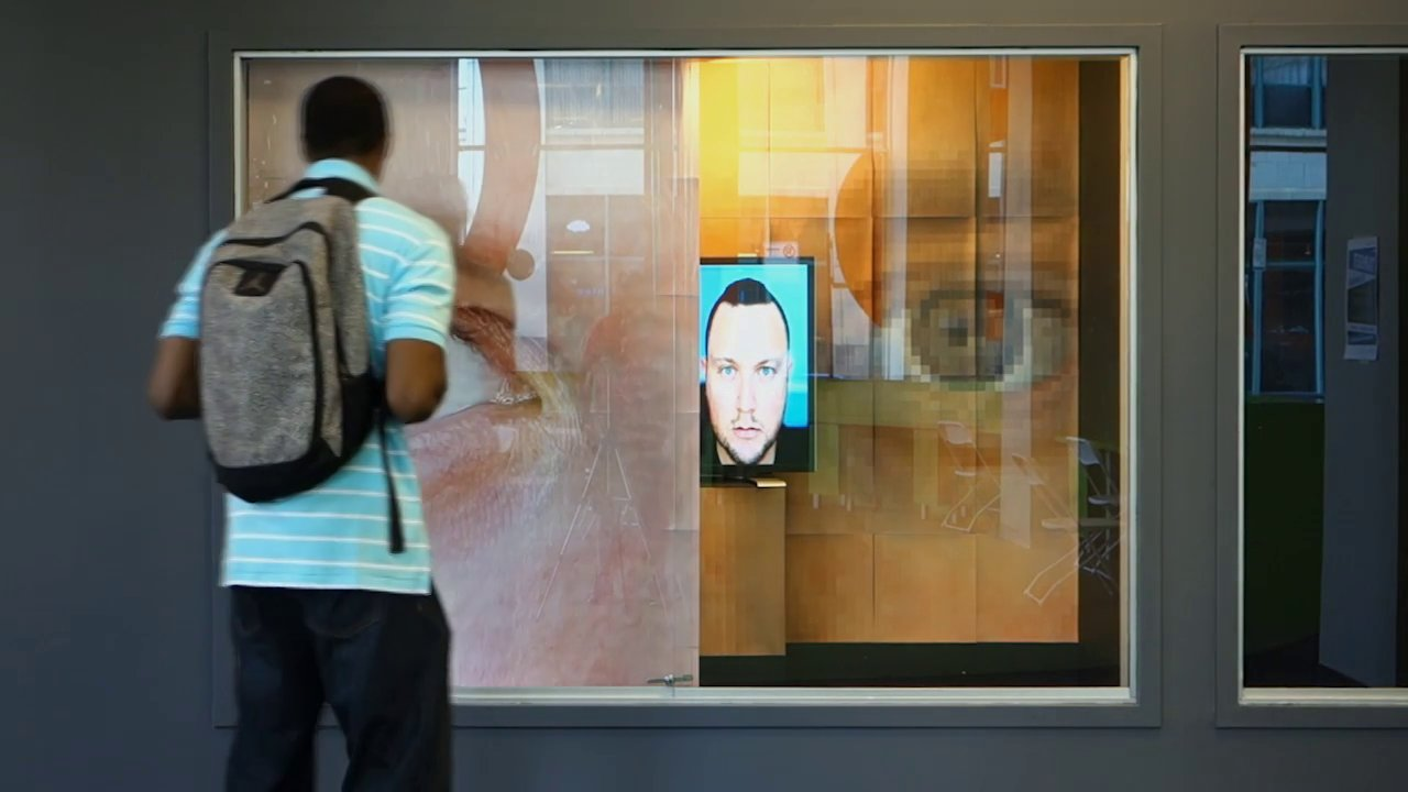 A Prototype Of My Urme 2 Way Mirror An Interactive Installation That Virtually Exchanges Identity With The Viewers By Digitally Replacing Face