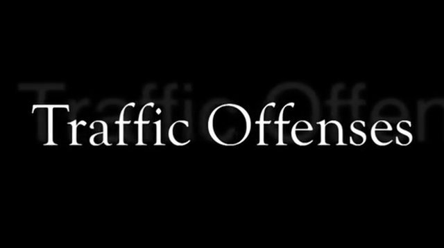 Mark Sacco- Traffic Offenses