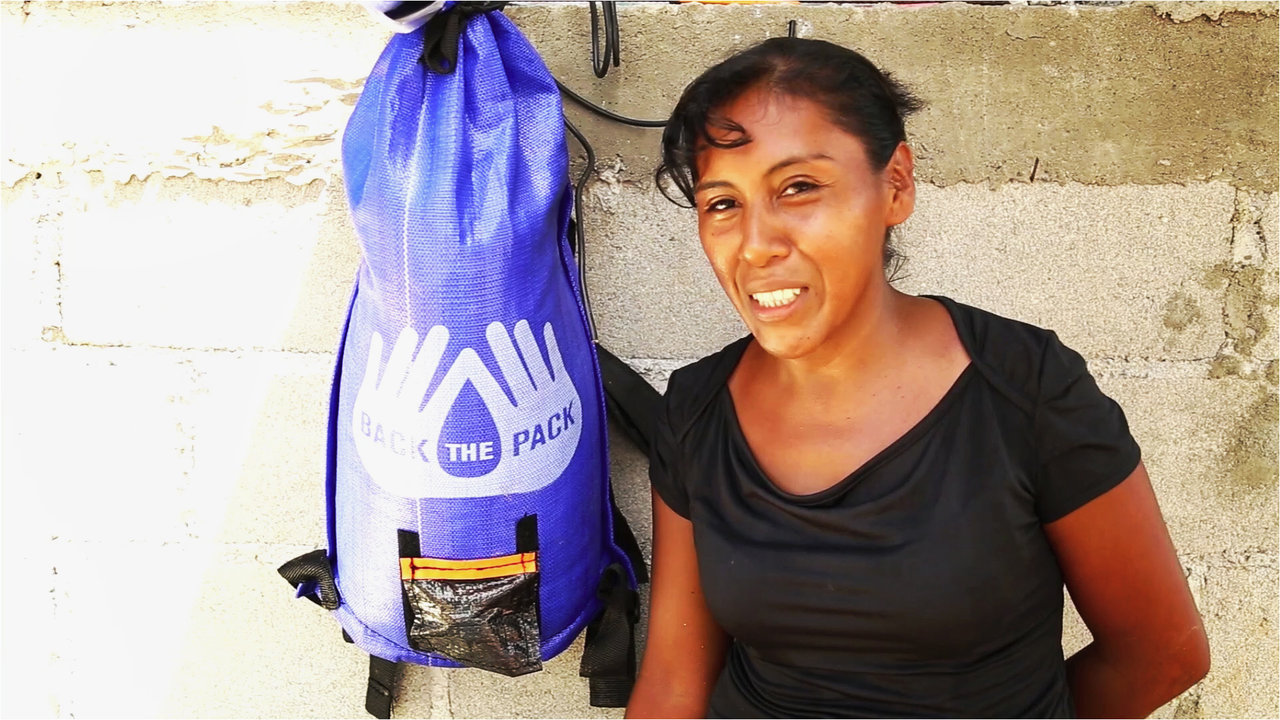 Clean Water In An Innovative New Backpack Aids Mexico Disaster Victims