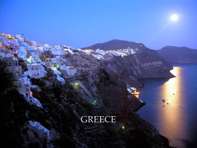 Moonrise in Greece