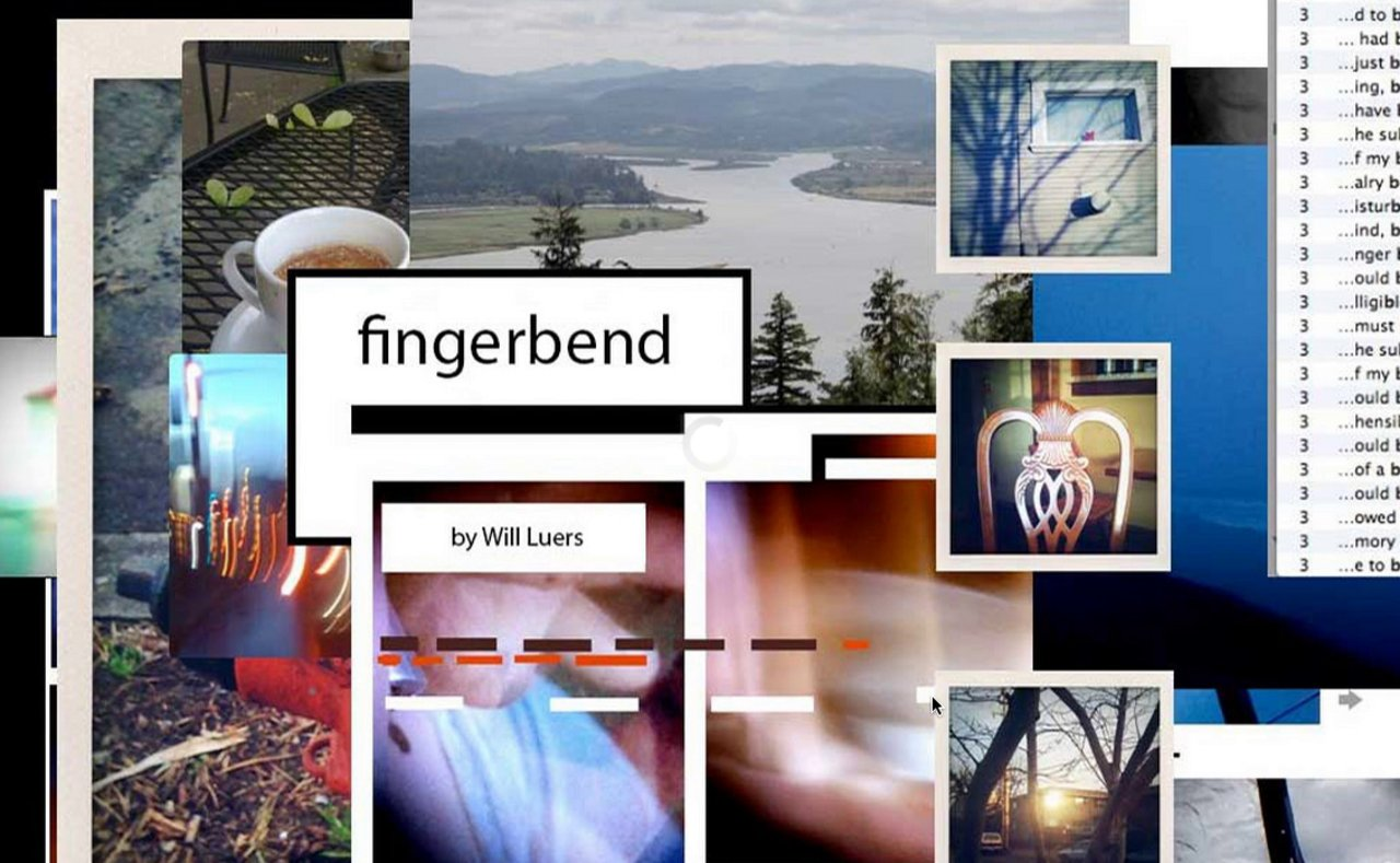 Fingerbend  (video simulation of a web book)