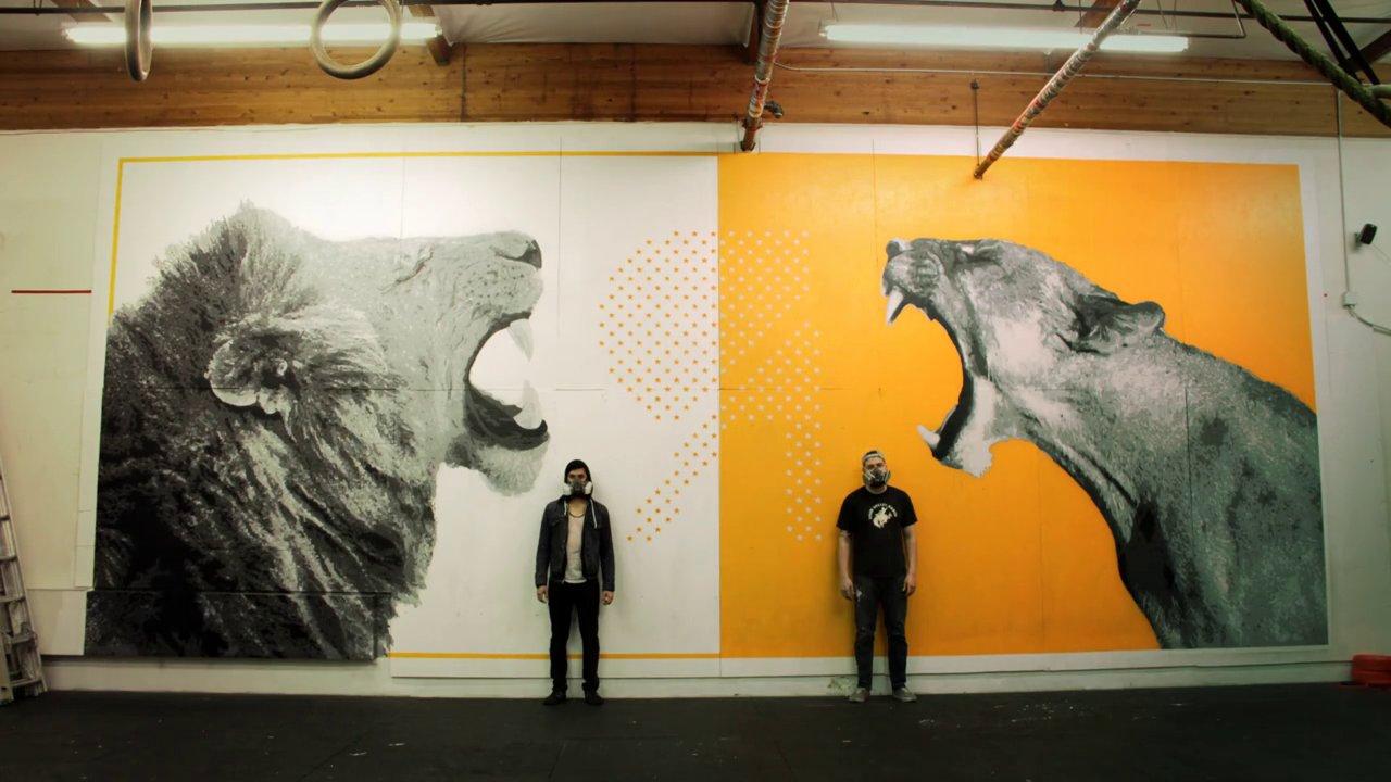 Lion mural mark gabriel amipublicfo Images
