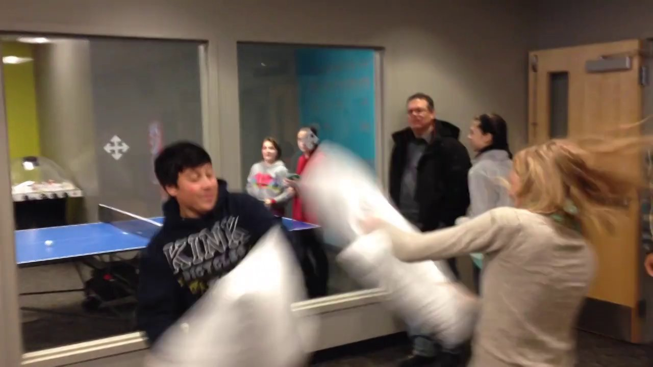 Spontaneous Pillow Fights