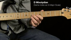 D7 (IV Chord) - using D Mixolydian + A Blues Scale